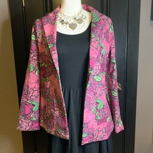 🌸 LuLaRoe Supply Pink Floral Blazer 🌸